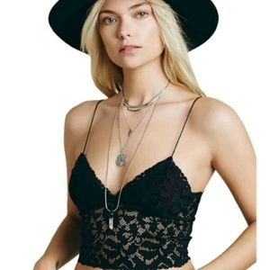 FP Lacey Lace Brami Cami Bra Camisole Sheer